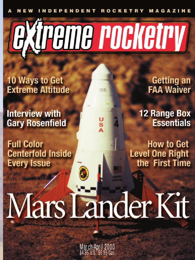 issue01_mar2000Extreme Rocketry Magazine   Rocket   Color
