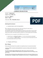 Encryption E-business Assignment
