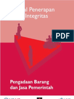Manual Penerapan Pakta Integritas 2009