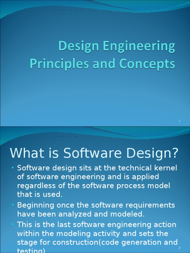3a Design Engineering Principles Ppt Design Component Based Software Engineering