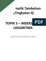 Indeks Dan Logaritma Tingkatan 4
