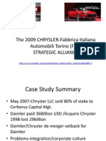 Chrysler-Fiat Strategic Alliance