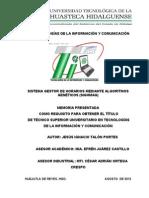 Memoria - Jesus Ignacio Talon Portes - (TIC) UTHH Sistema Gestor de Horarios Mediante Algoritmos Geneticos