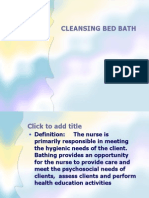 Cleansing Bed Bath