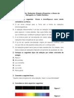 Ficha de trabalho- Radiação_ Energia e Espectros _Átomo de H e TP