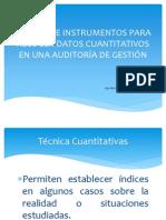TÉCNICAS E INSTRUMENTOS PARA RECOGER DATOS CUANTITATIVOS EN
