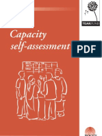 Capacity self assessment