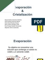 Evaporación y Cristalización