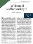 Philosophy. Ethics. the Virtues of Alasdair MacIntyre. Hauerwas, Stanley. First Things
