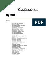 Lista Karaoke