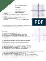 X-Intercepts and Factors