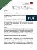 Realidades, Construcciones y Dilemas. Una revisión filosófica al construccionismo social
