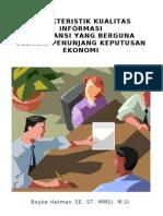 Karakteristik Kualitas Inf Akuntansi Sebagai Penunjang Keputusan Ekonomi