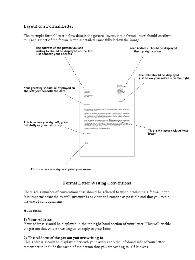 Layout of a formal letter sir mrs altavistaventures Image collections