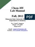 Chem355 Labbook