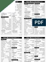 Warrior Checklist