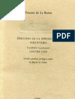 La Boéttie, Ettiene - Contra Uno