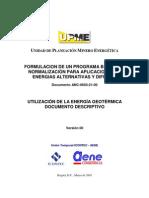 Utilizacion de La Energia Geotermica Documento Descriptivo