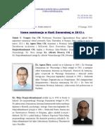 Nowe nominacje w Kurii Generalnej w 2013