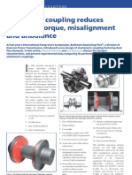New pump coupling reduceseffects of torque, misalignmentand unbalance