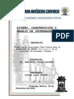DISEÑO Y COSTRUCCION DE INVERNADRO TIPO SIERRA