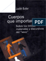 Butler, Judith - Cuerpos Que Importan