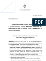 Pcia. Buenos Aires - Proyecto de ley para la instauración del juicio por jurados - Ref. Expte. PE-4-12-13