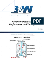 Pulverizer Operation Performance and Testing