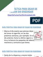 guía práctica para dejar de fumar sin engordar