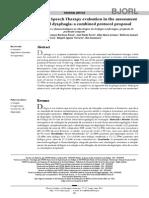 Evaluacion Conjunta de ORL Y FA en Deglucion