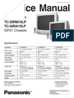7545347 Panasonic TC20RM10LP Chasis GP31 Service Manual