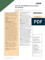 predictores de mortalidad de una cohorte clínica de pacientes ancianos 190412