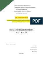 Evaluacion de Sistema Naturales