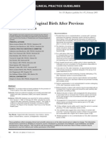 Vaginal Birth After C-section SOGC