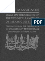 Massignon  Essay on the Origin of the Technical Language of Islamic Mysticism-Louis Massignon