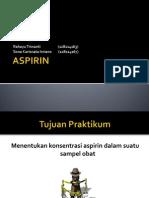 Ppt Analisis Aspirin