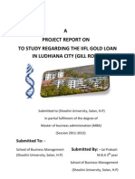Project on Gold Loan j p