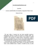 apócrifos - carta de lentulus publius de jerusalém ao imperador tíbérío césar