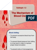 bio f5 subtopic 1.3 mechanism of blood clotting