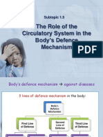 bio f5 the role of the circulatory system in the body´s defense mechanism