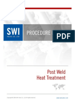SWI_Procedure_Post Weld Heat Treatment for Astm a105 Steel