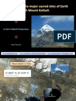 Alignments of sacred sites with Mount Kailash