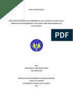 Pengaruh Komunikasi Interpersonal Dan Lingkungan Keluarga Terhadap Intensi Berwirausaha Siswa Smk Muhammadiyah 3 Yogyakarta