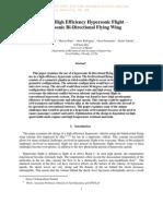 Towards High Efficiency Hypersonic Flight – Hypersonic Bi-Directional Flying Wing