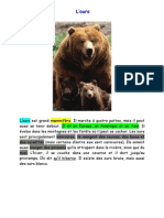 l'ours aide