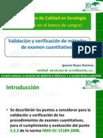 Validación y verificacion de metodos de examen cuantitativos