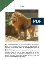 Le lion activité