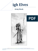 High Elves 8th Edition Army Book