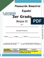 3er Grado - Bloque 3 - Español.doc