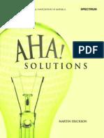 Aha! Solutions - Martin Erickson
